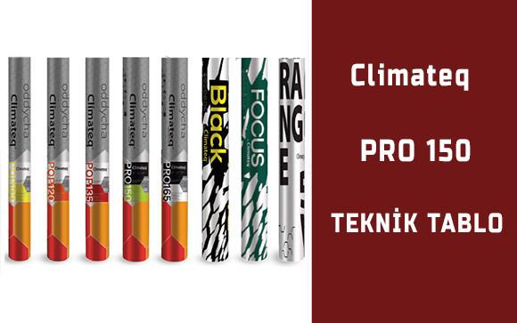 climateq-pro150-teknik-tablo